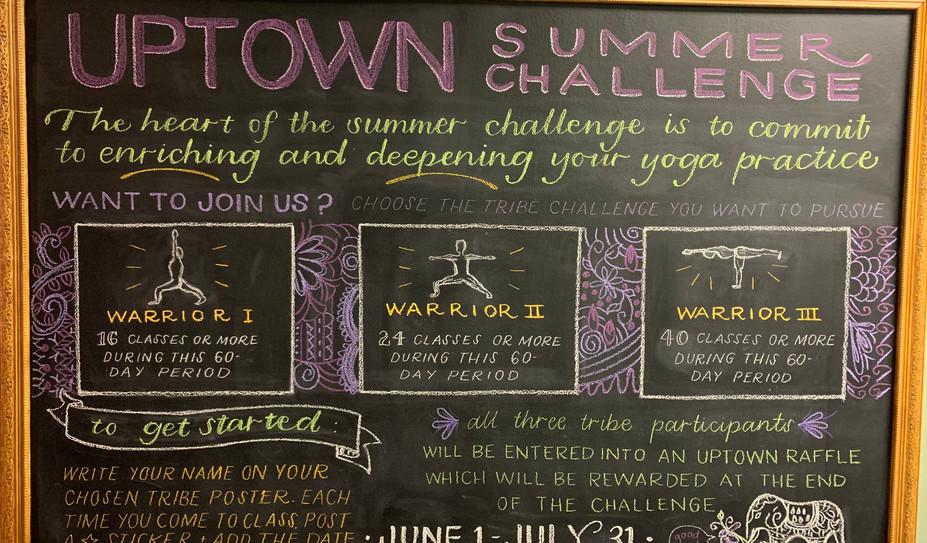 Uptown Yoga, chalk