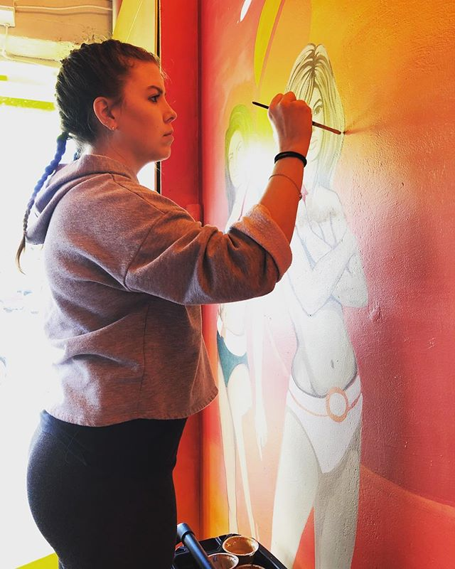 Painting live at Watson Murals