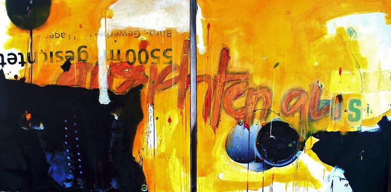 100x200 2-teilig auf Leinwand   Kunstsammlung Migros Aare