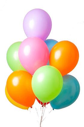 globos inflados con helio surtido de colores