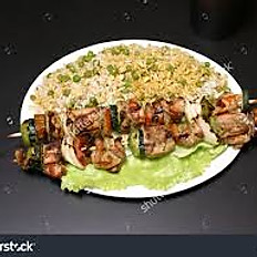 Grilled Chicken over Rice