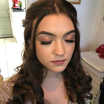 Bridesmaid make up, Bridal Make up, rose gold make up, sequin dress, hd brows, false eyelashes, half up hairstyle, curled hair, professional makeup artist, caerleonmakep artist, cardiff makeup atist, special occassion makeup, makeup inspiration, local makeup artist