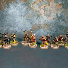 Lion Clan Samurai and Ashigaru