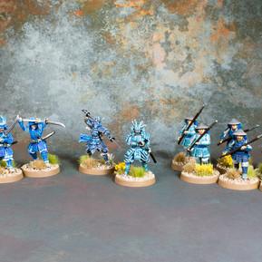 Crane Clan Samurai and Ashigaru