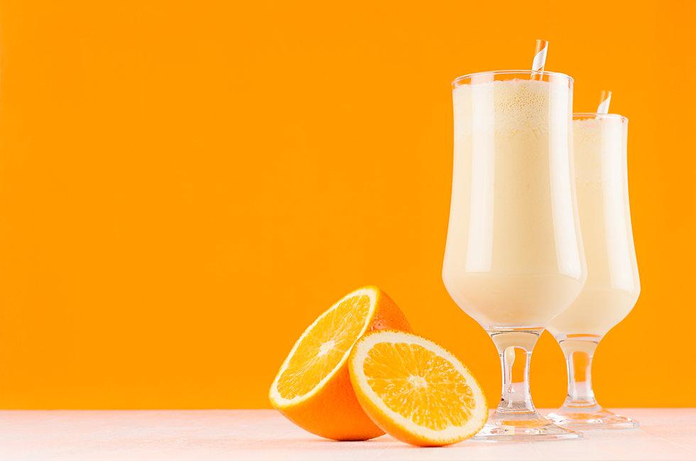 Energy fresh oranges smoothie with sweet
