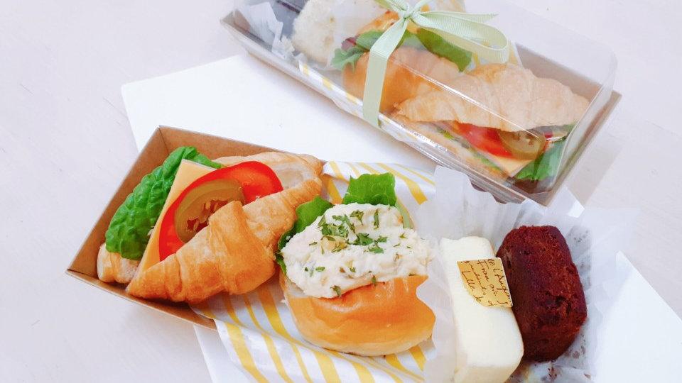 햄치즈 크로& 모닝에그 & 치즈빵/브라우니