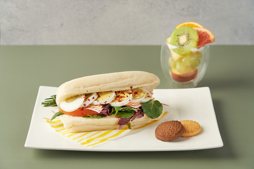 치아바타 샌드위치&컵과일(HALF 기준)