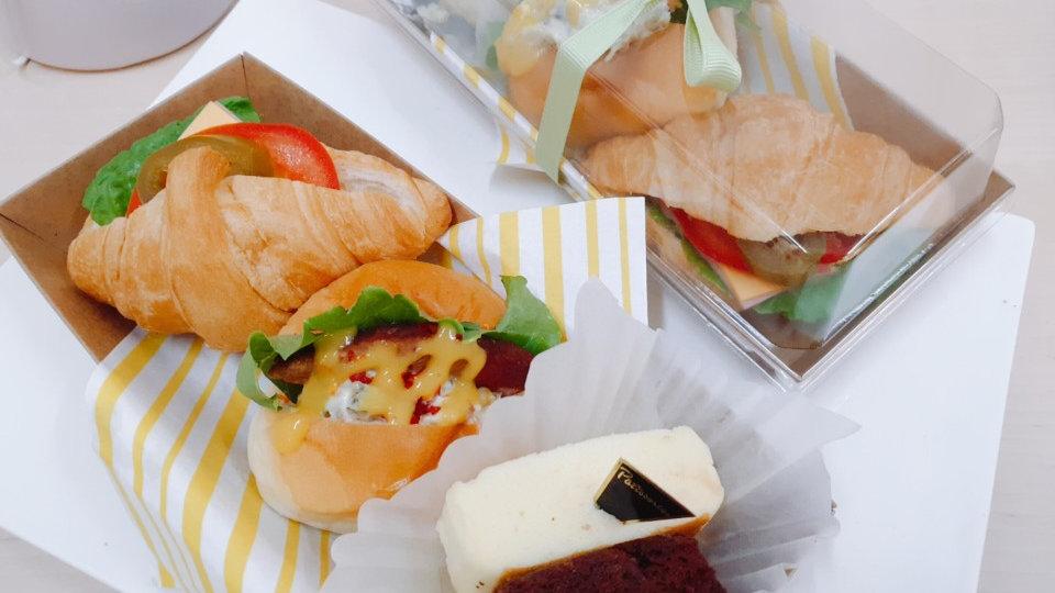 햄치즈 크로&미니버거&치즈빵/브라우니