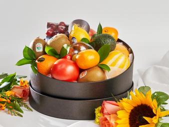 과일 한박스 원형 중