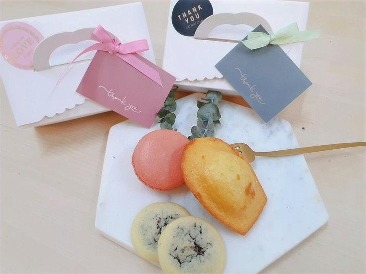 Triple Gift - 빅 마카롱 & 마들렌 & 브라우니 쿠키