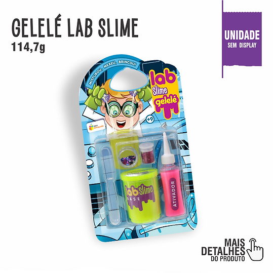 Gelelé Lab Slime Ativador, Glitter, Lab Slime Base