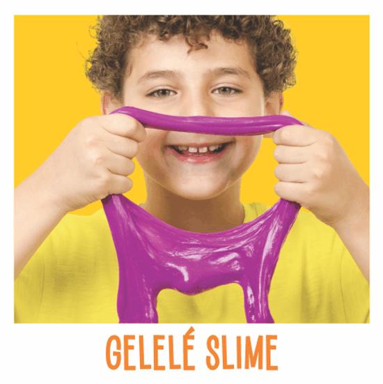 Gelelé Slime é uma massinha colorida e super divertida!  Com textura gelatinosa, estica, forma bolhas, enrola e ganha diversas formas na imaginação das crianças.  Tem fragrância infantil especialmente desenvolvida para o produto. De forma lúdica e descontraída, estimula a criatividade, contribui para o desenvolvimento motor e cognitivo, o raciocínio, a visão e a sensorialidade. Produto atóxico e biodegradável. Gelelé Geleca