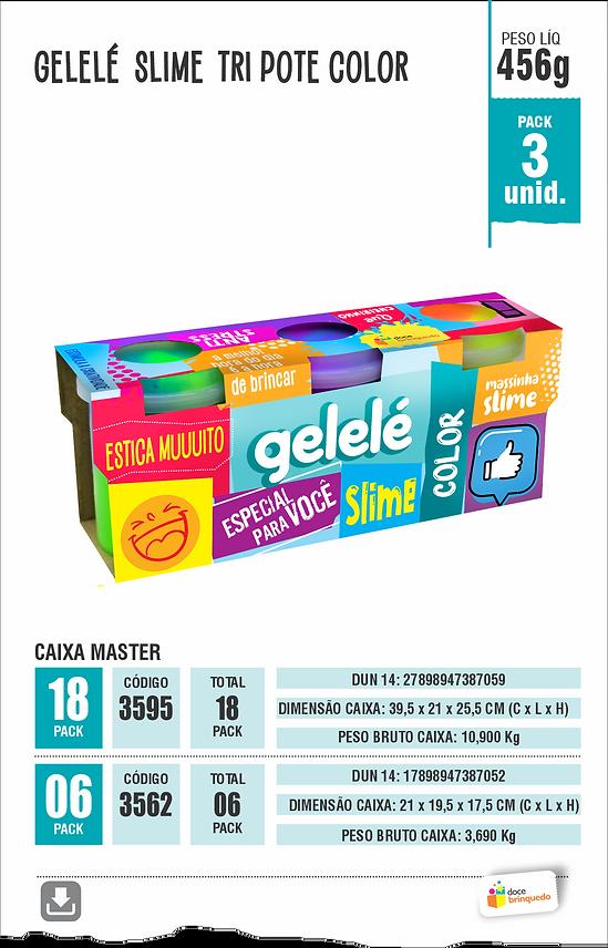LAMINAS GELELÉ SLIME TORRE GLITTER 196 G