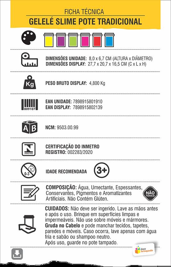 LAMINA GELELÉ SLIME BRILHA NO ESCURO 110