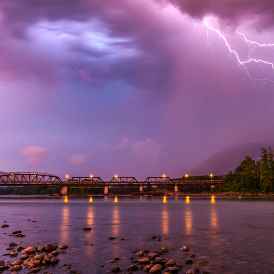 Lightning Strike at Old Skeena Bridge_Je