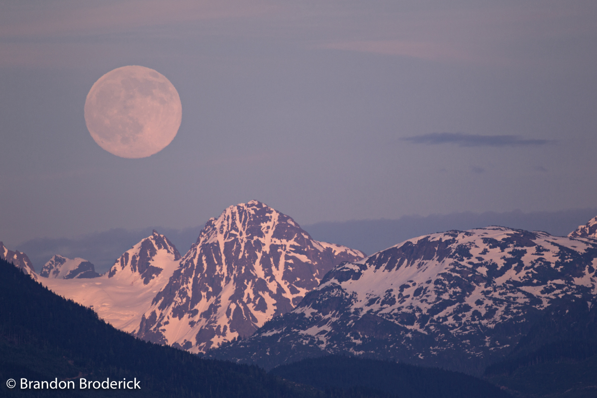 Moon and Mt. Clore