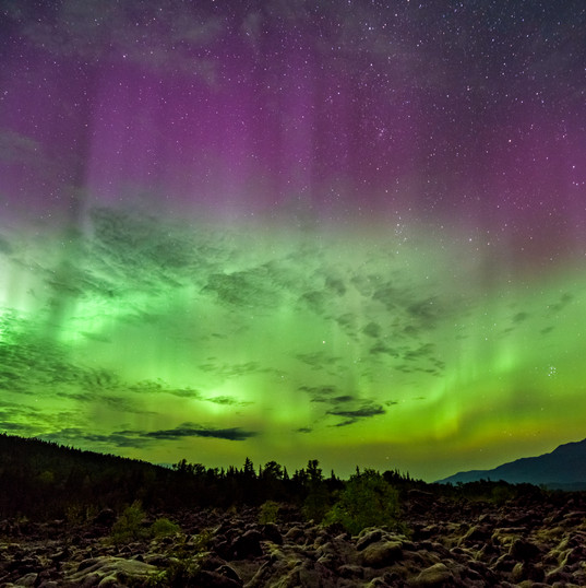 Aurora Dances over the Nisga'a Lava Beds