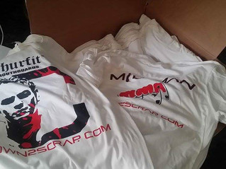 Printing up the Milkman's Down2Scrap shirt