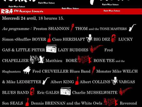 le nouvel EP de THOM and THE TONE MASTERS sur les radios du CRB (collectif des radios blues) !
