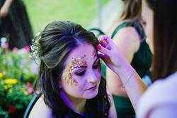 Glitter station at a wedding reception