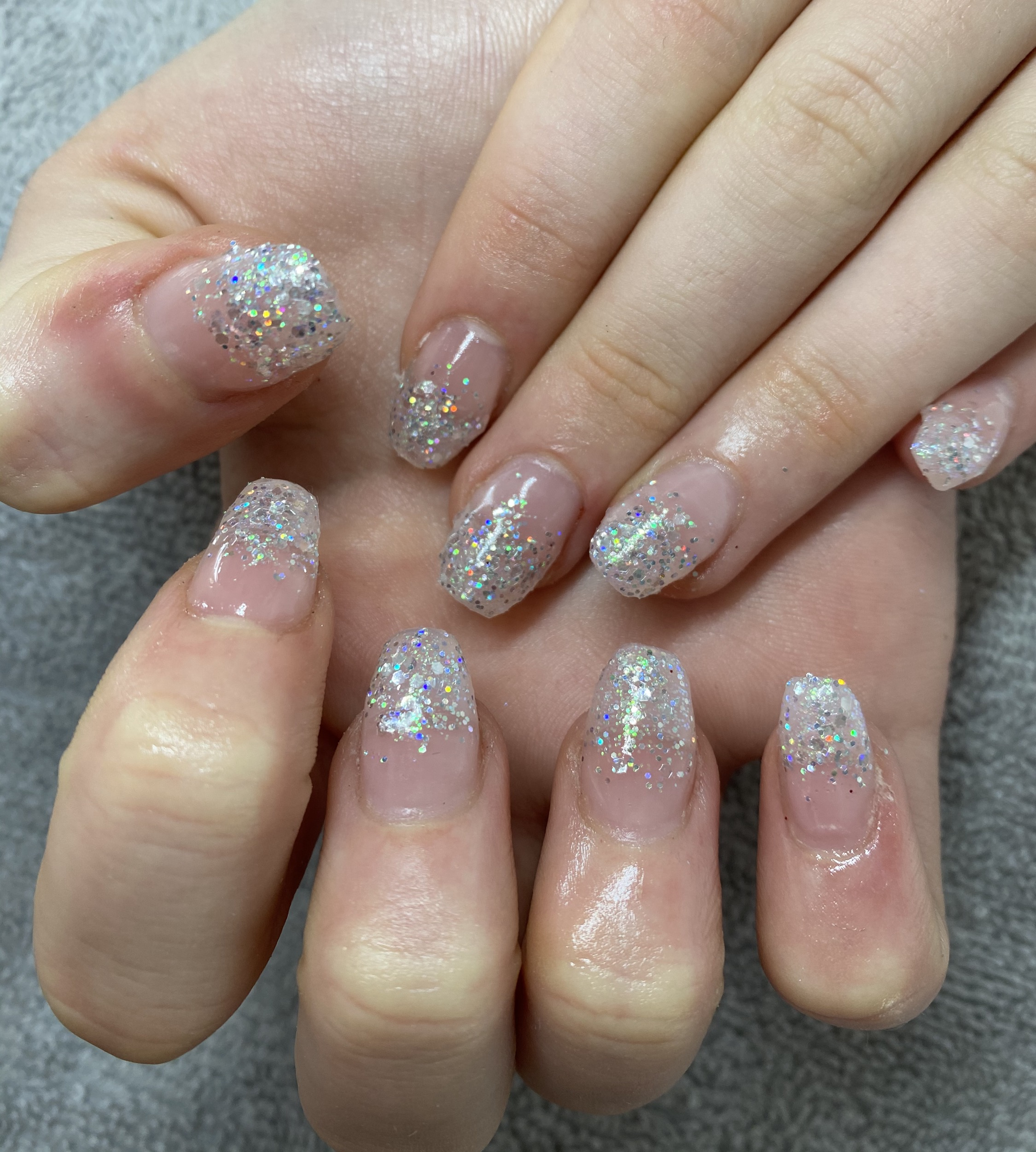 Glitter Tip Acrylic Nails