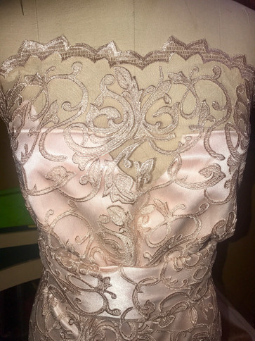strapless lace
