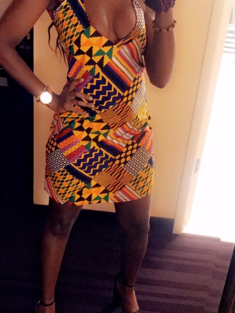 cross neck mini dress