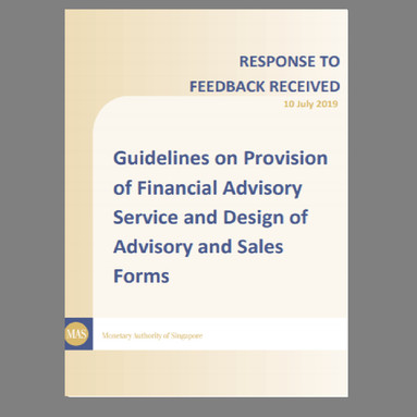 Response to Feedback Received on Guidelines on Provision of Financial Advisory Service and Design...