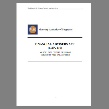 Guidelines on the Design of Advisory and Sales Forms