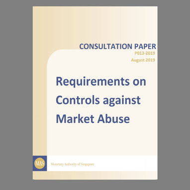 Consultation Paper on Requirements on Controls against Market Abuse