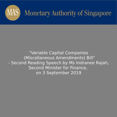 Variable Capital Companies (Miscellaneous Amendments) Bill