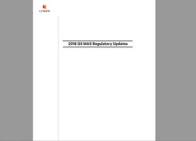 Lymon's 2018 Q3 Regulatory Updates