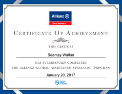 Allianz Global Assistance Specialist Program - Certificate