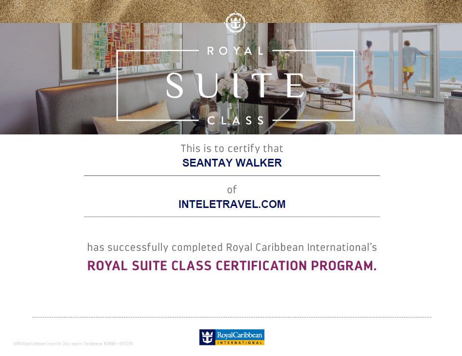 RCL:Royal Suites Class Certification