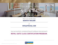 RCL:Royal Suites Class Certification