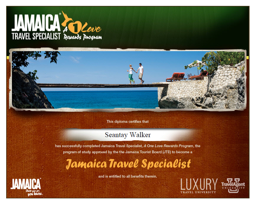 Jamaica Travel Specialist Diploma