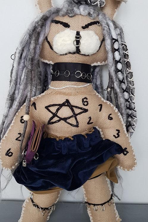 Rabbit Dread Doll Decorative Unique Dreadlocks Ragdoll