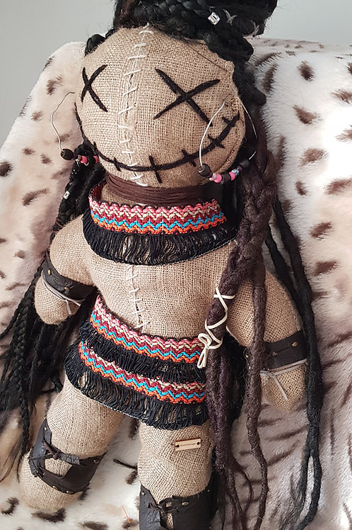 Voodoo Happy African Dread Doll Decorative Unique Dreadlocks Ragdoll