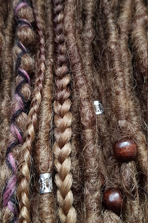 Full Set Ombre Dark Blonde Synthetic Dreadlock Braid Extension Dreads / Decorate