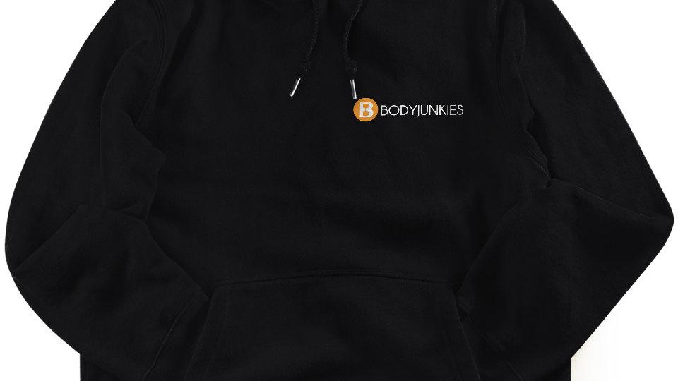 Bodyjunkies Hooded Jumper With Logo Print In Orange