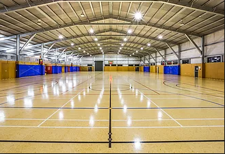 3 full size indoor basketball courts
