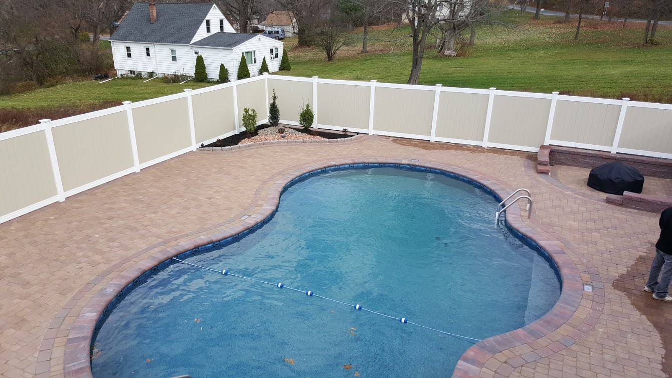 pool finished with fence