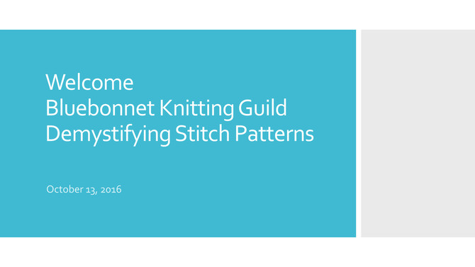 Demystifying the Stitch Dictionary - Presentation by: Dixie Butler