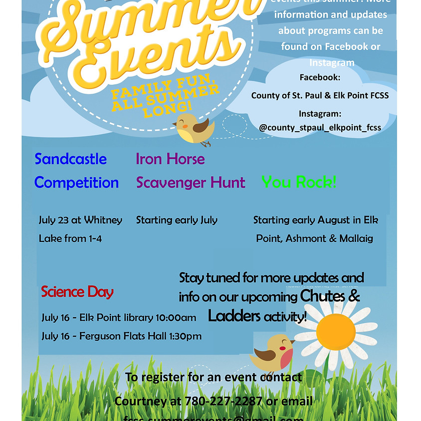 Coming this Summer!  A lot of exciting free events!!