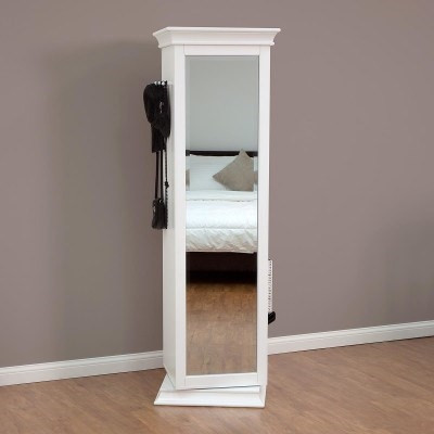 Display It Rotating Bookcase With Mirror Ldwi