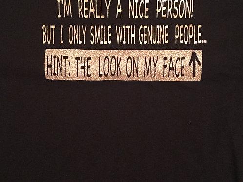 """Ladies Scoop """"Genuine People"""" T-Shirt"""
