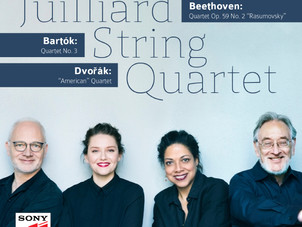 Sony Classical releases the Juilliard String Quartet's new recording of Beethoven, Bartók, Dvořák