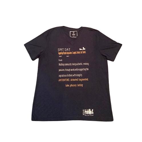 "Unisex ""Spit Dat Navy Blue V Neck"" T-Shirt"