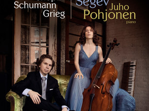 Cellist Inbal Segev releases first album for AVIE Records with pianist Juho Pohjonen