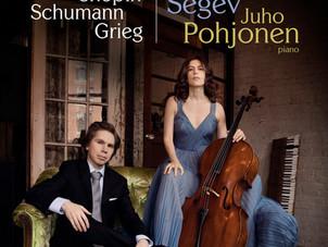 Cellist Inbal Segev releases first album for AVIE Records with pianist Juho Pohjonen